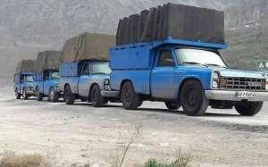حمل بار توسط نیسان در شمال تهران